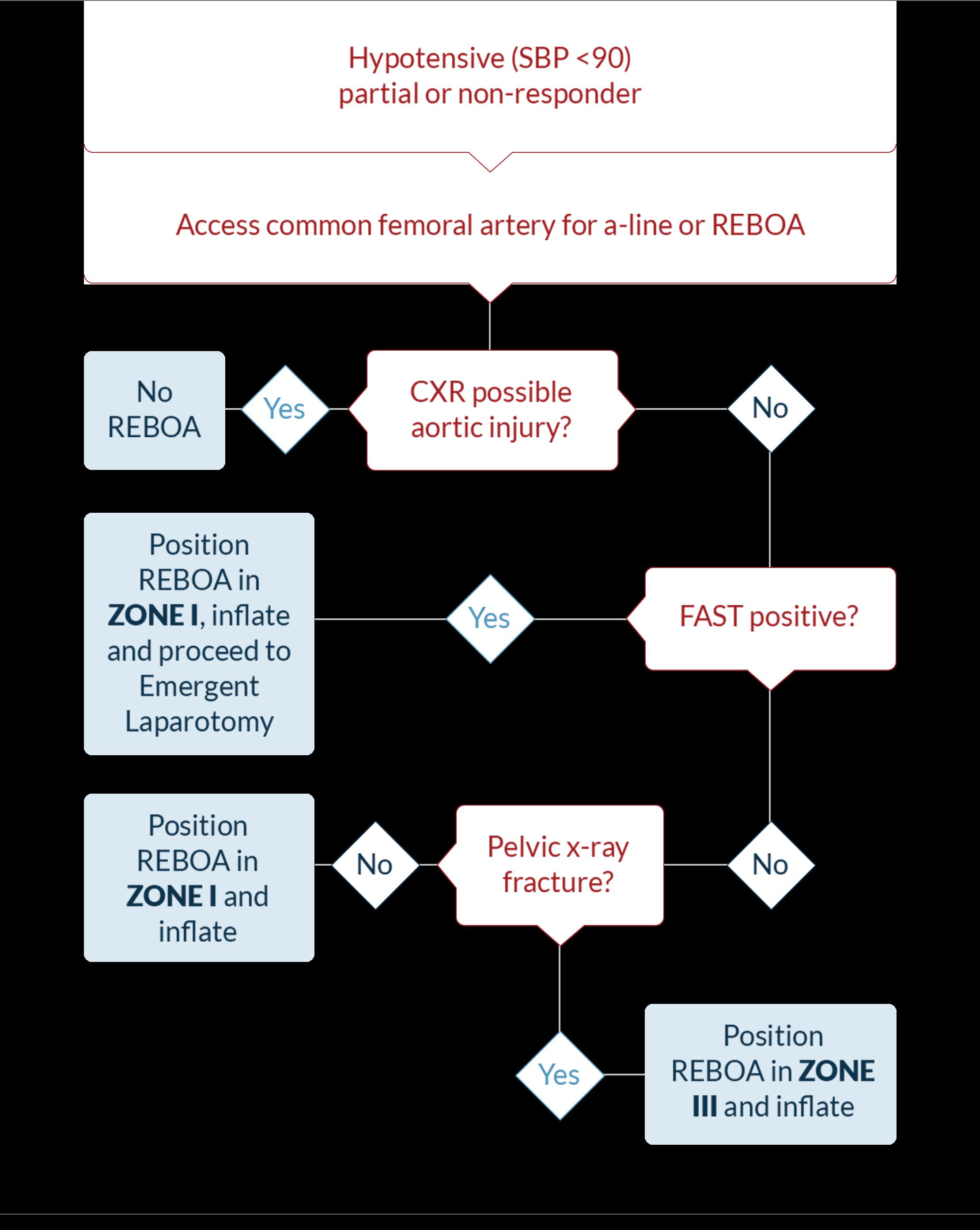 REBOA Treatment Algorithm